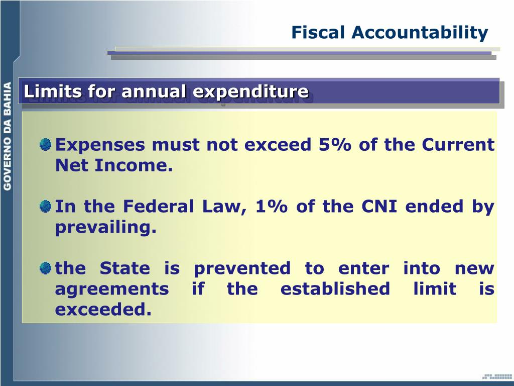 Fiscal Accountability