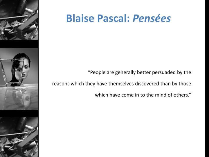 Blaise Pascal: