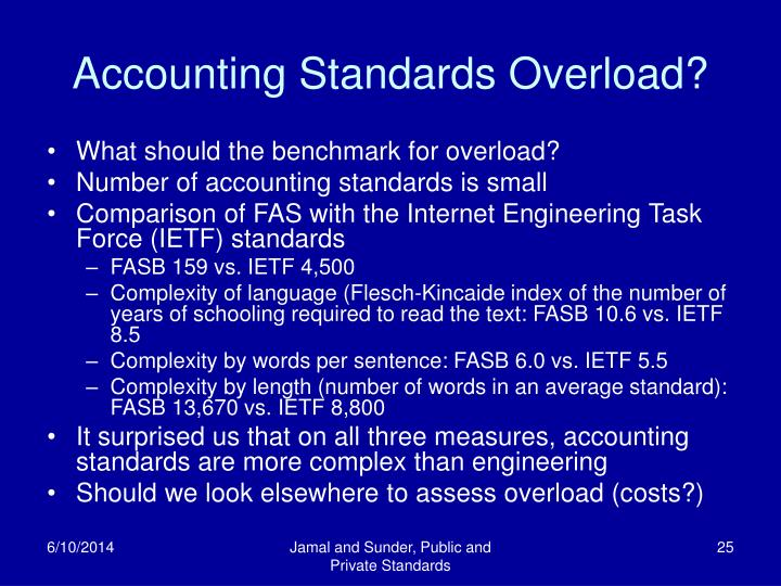 Accounting Standards Overload?