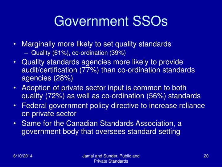 Government SSOs