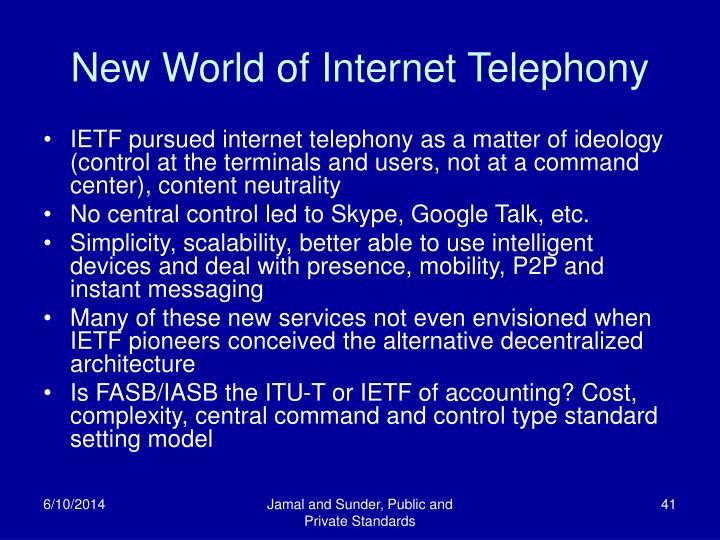 New World of Internet Telephony