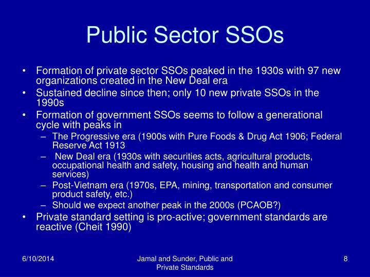 Public Sector SSOs