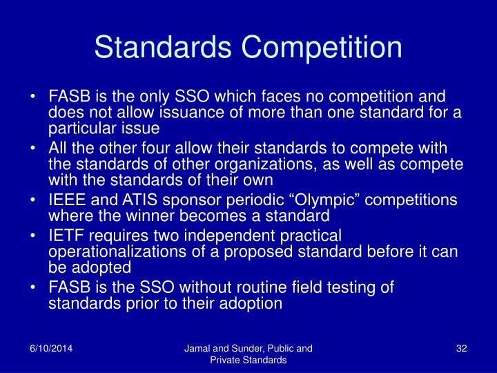 Standards Competition