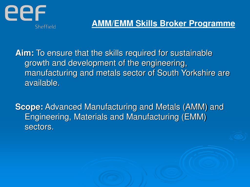 AMM/EMM Skills Broker Programme