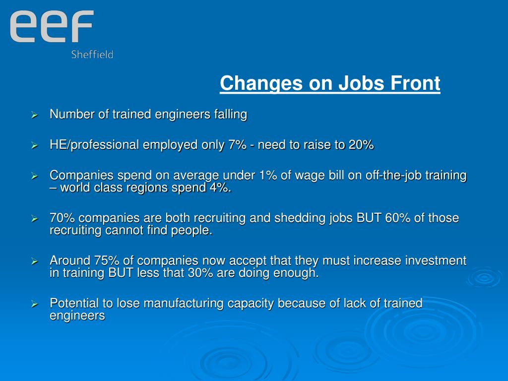 Changes on Jobs Front