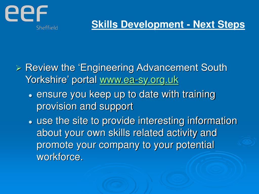 Skills Development - Next Steps