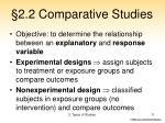 2 2 comparative studies