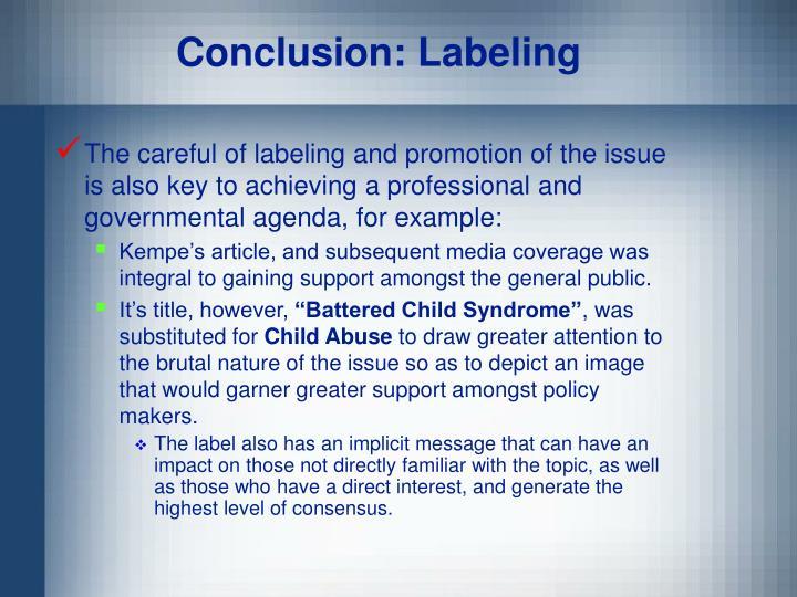 Conclusion: Labeling