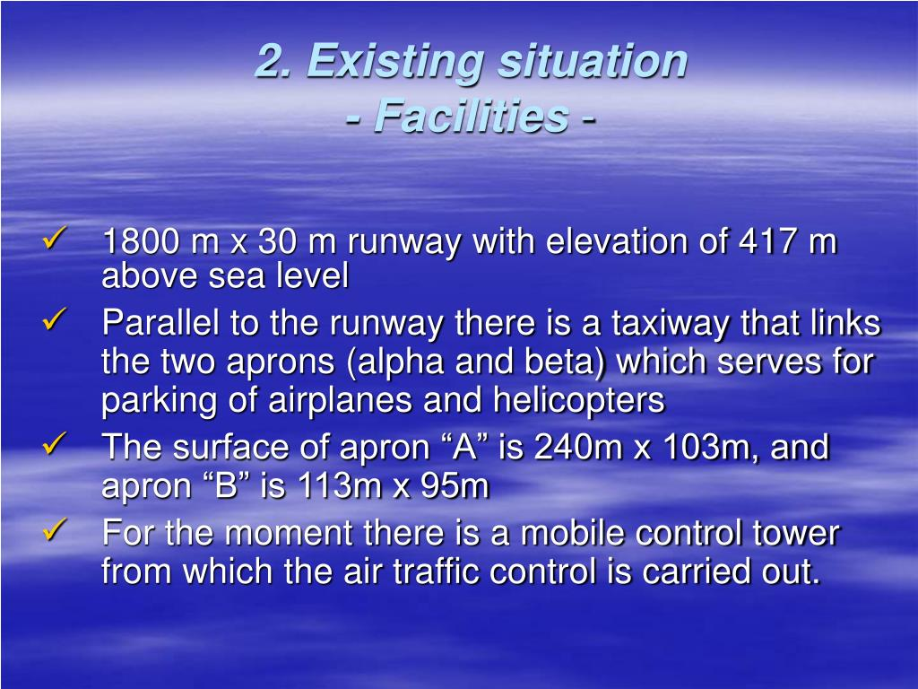 2. Existing situation
