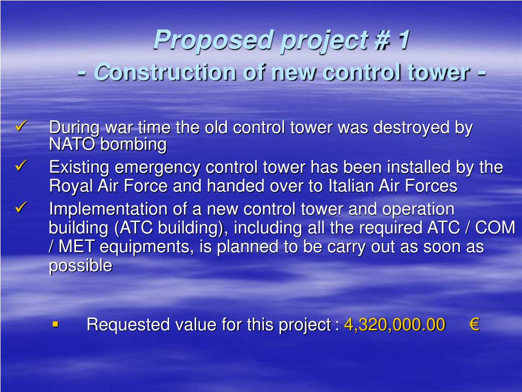 Proposed project # 1