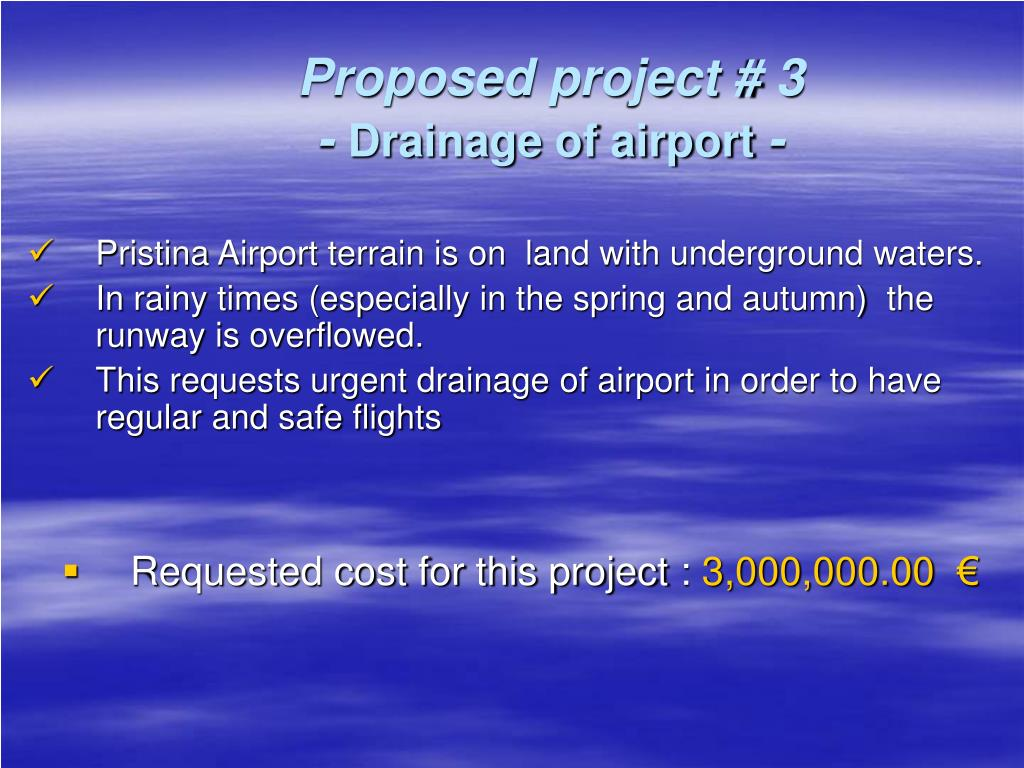 Proposed project # 3