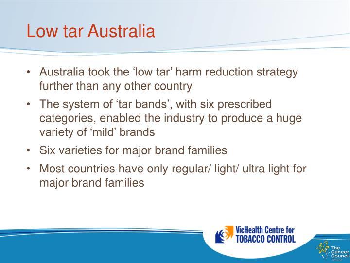 Low tar Australia