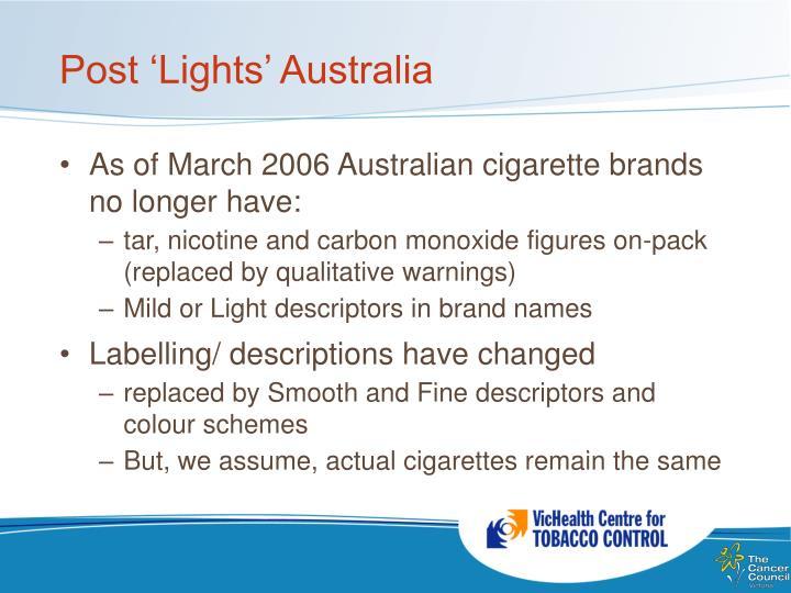 Post 'Lights' Australia