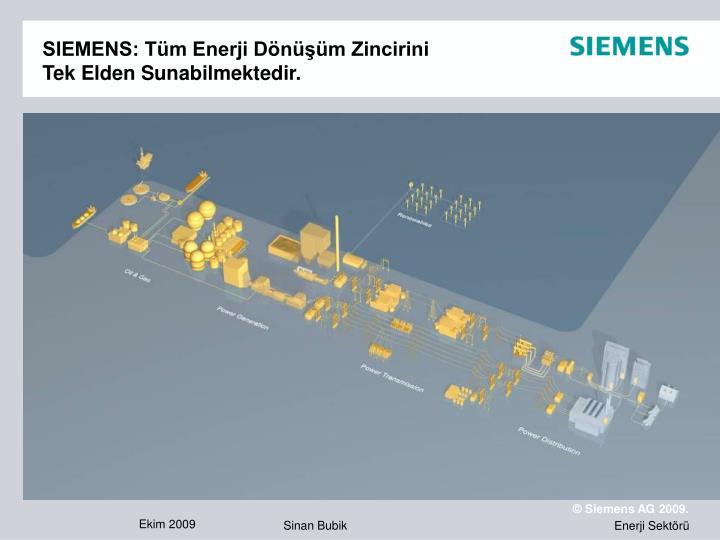 SIEMENS: Tüm Enerji Dönüşüm Zincirini