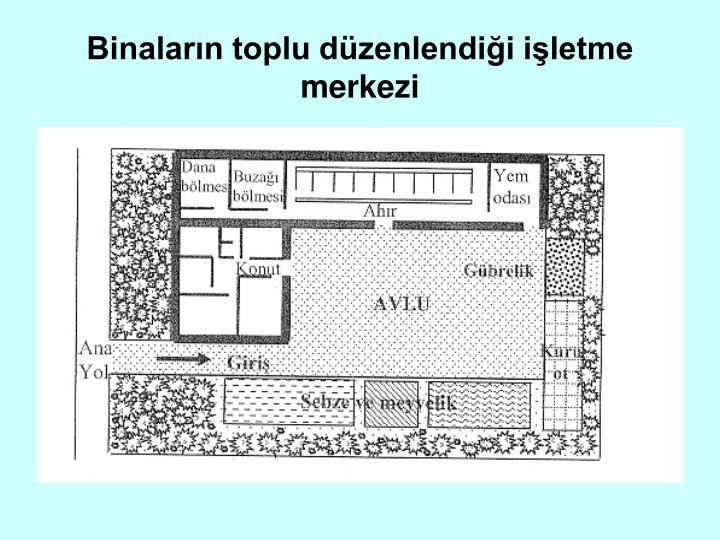 Binaların toplu düzenlendiği işletme merkezi