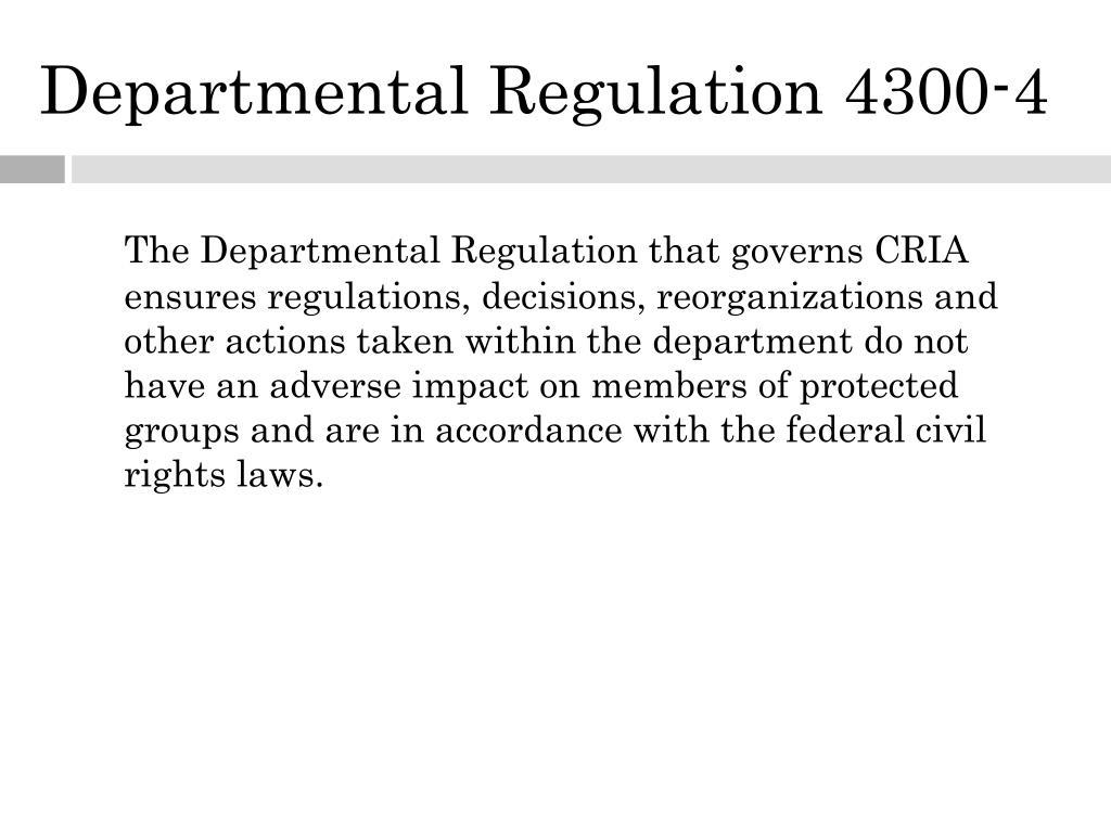 Departmental Regulation 4300-4