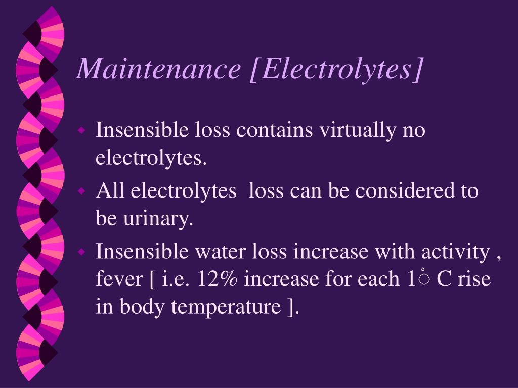 Maintenance [Electrolytes]