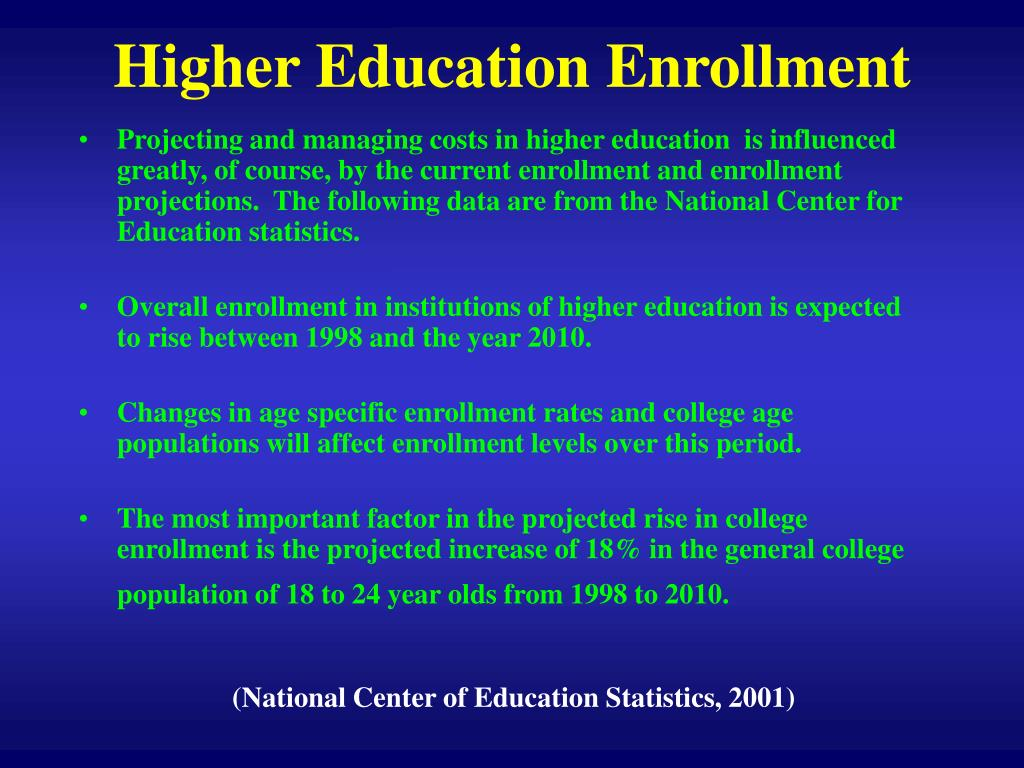 Higher Education Enrollment