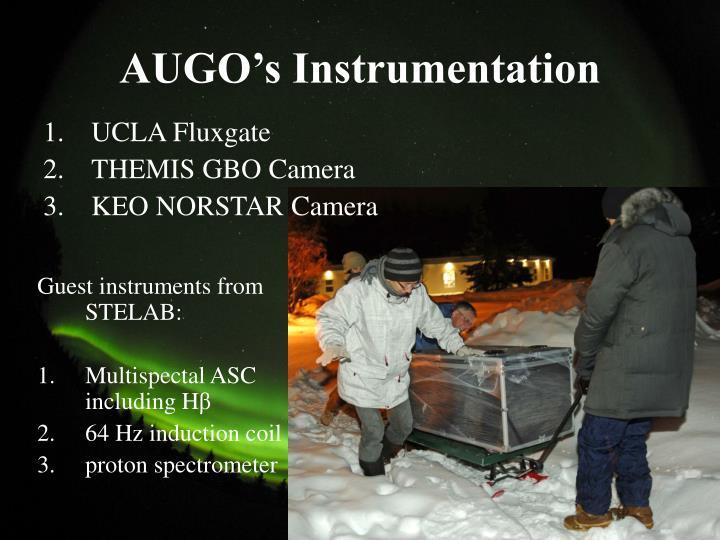 AUGO's Instrumentation