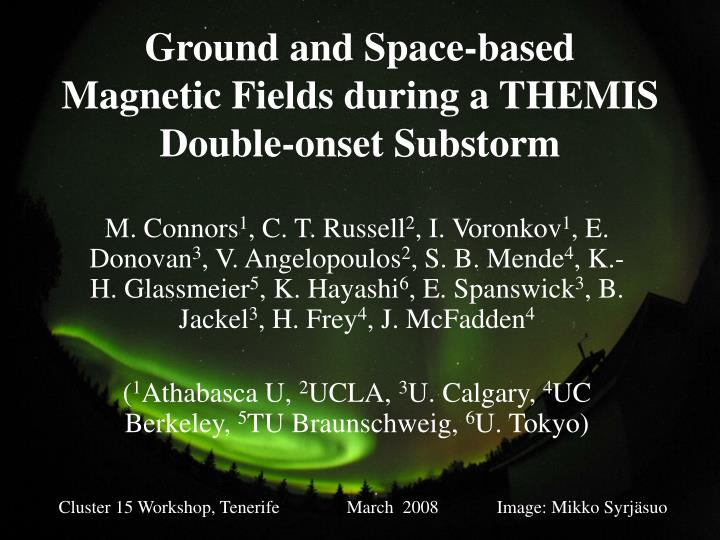 Ground and space based magnetic fields during a themis double onset substorm