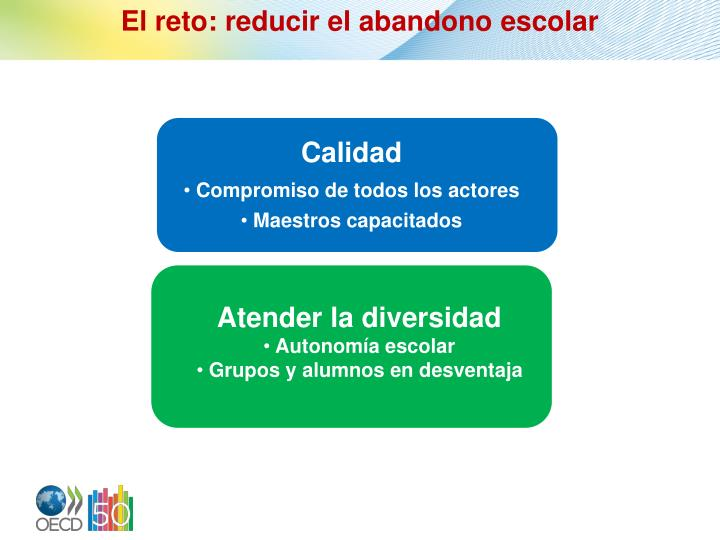El reto: reducir el abandono escolar