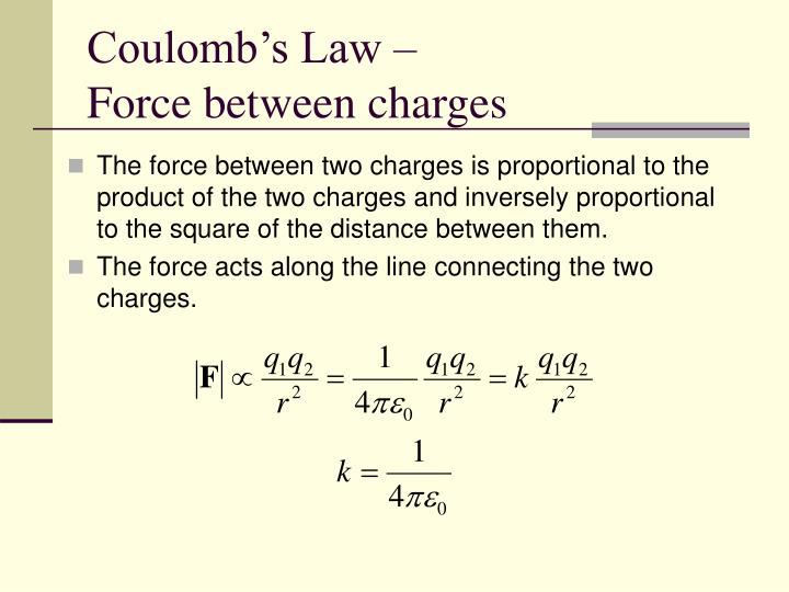 Coulomb's Law –