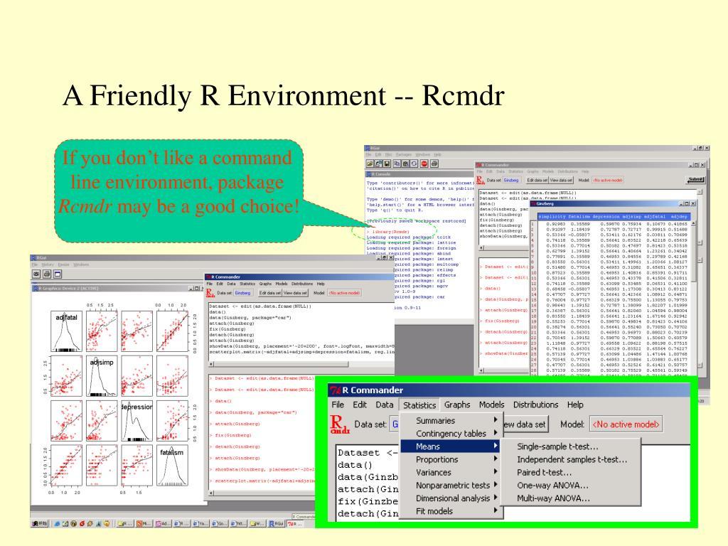 A Friendly R Environment -- Rcmdr
