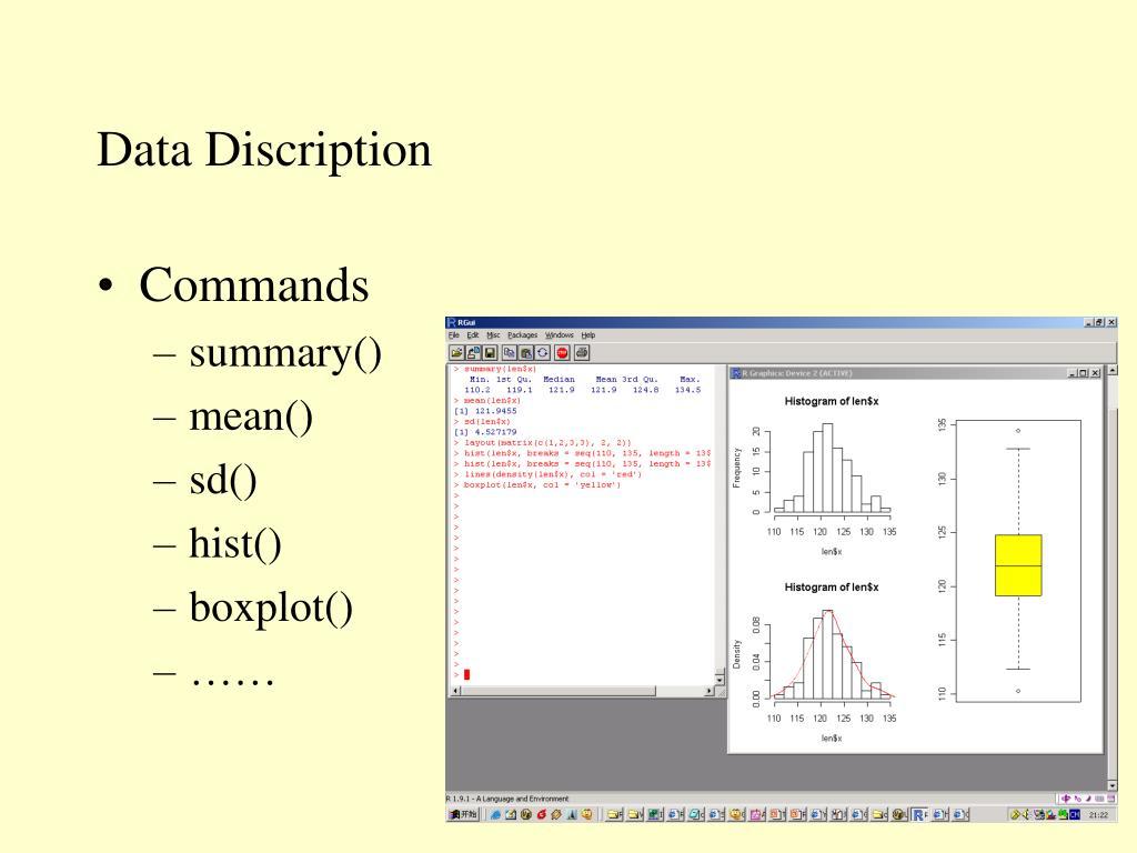 Data Discription