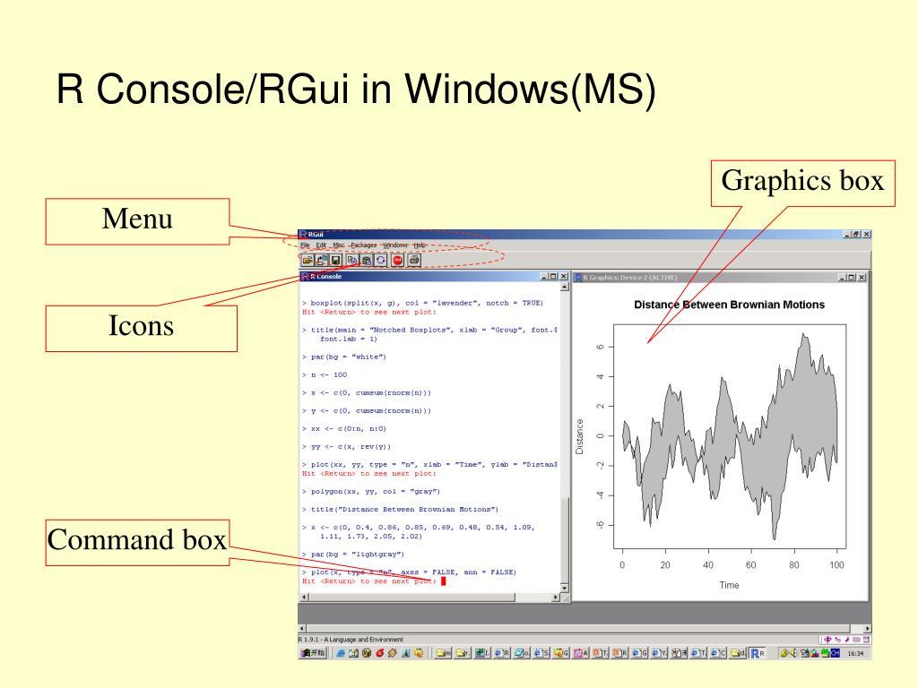 R Console/RGui in Windows(MS)