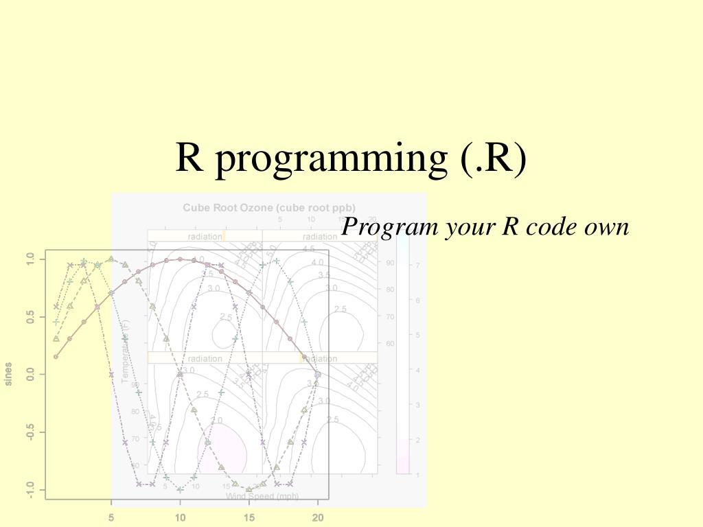 R programming (.R)