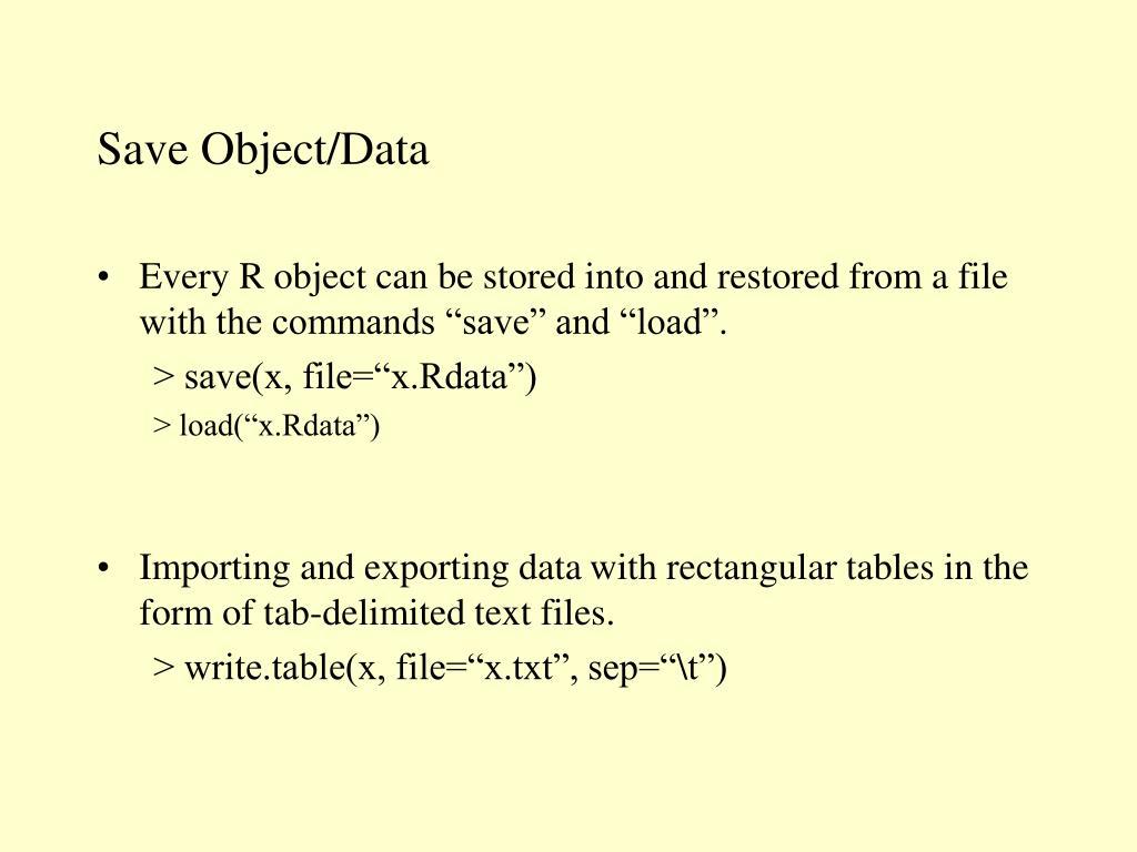 Save Object/Data