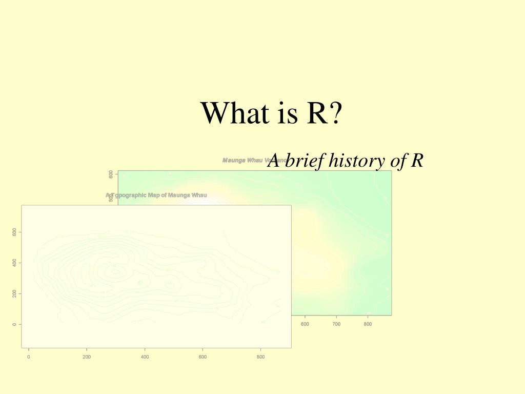 What is R?
