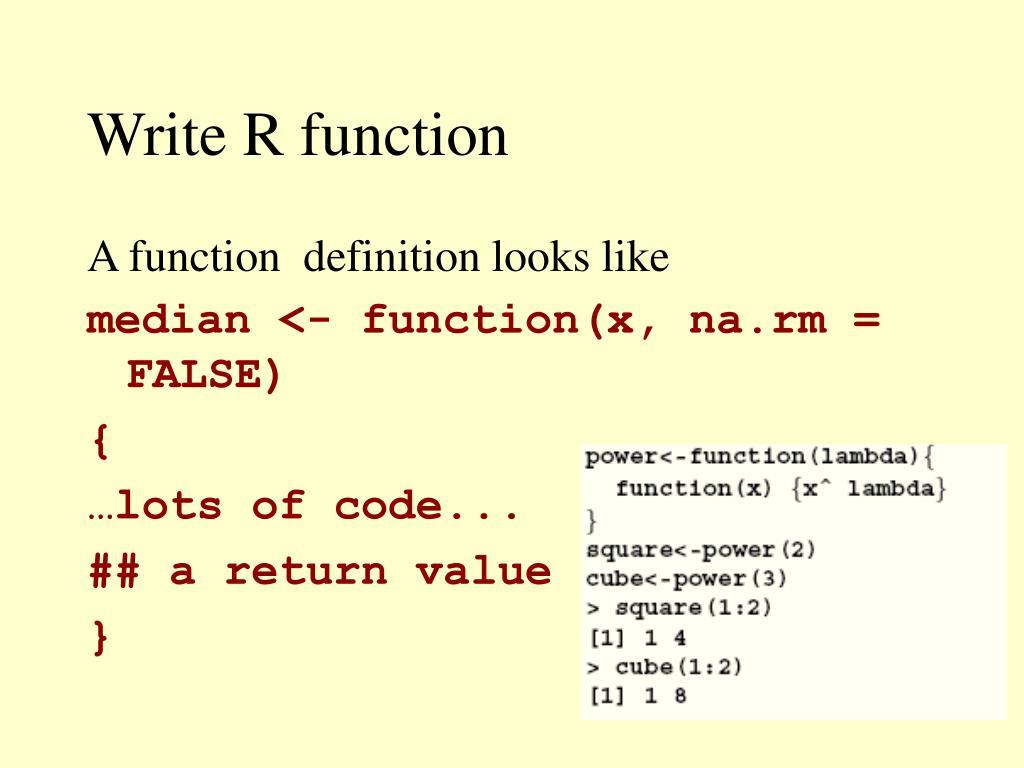 Write R function