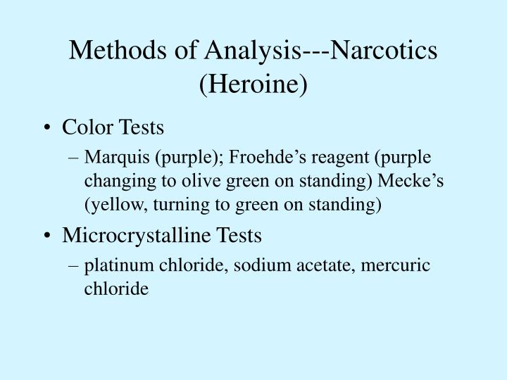 Methods of Analysis---Narcotics (Heroine)