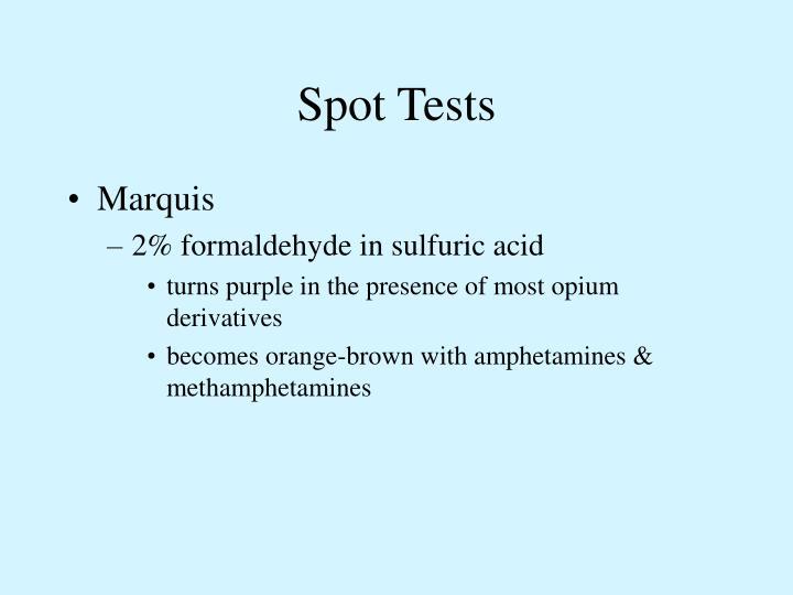 Spot Tests