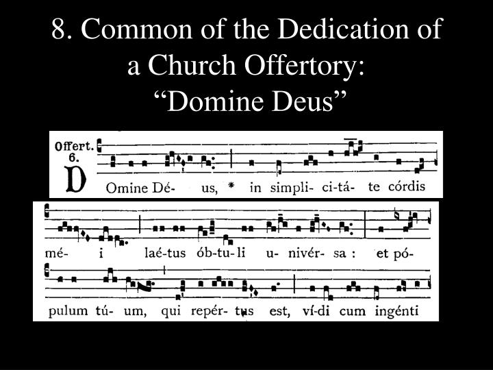 8. Common of the Dedication of a Church Offertory: