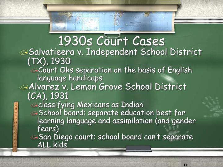 1930s Court Cases