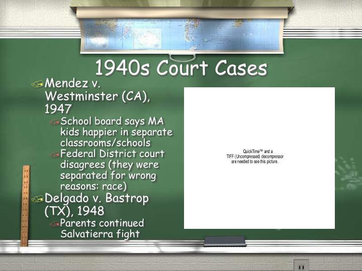 1940s Court Cases
