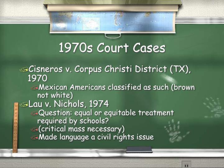 1970s Court Cases