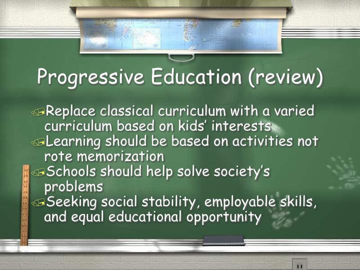 Progressive Education (review)