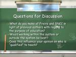 questions for discussion5