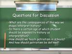questions for discussion8