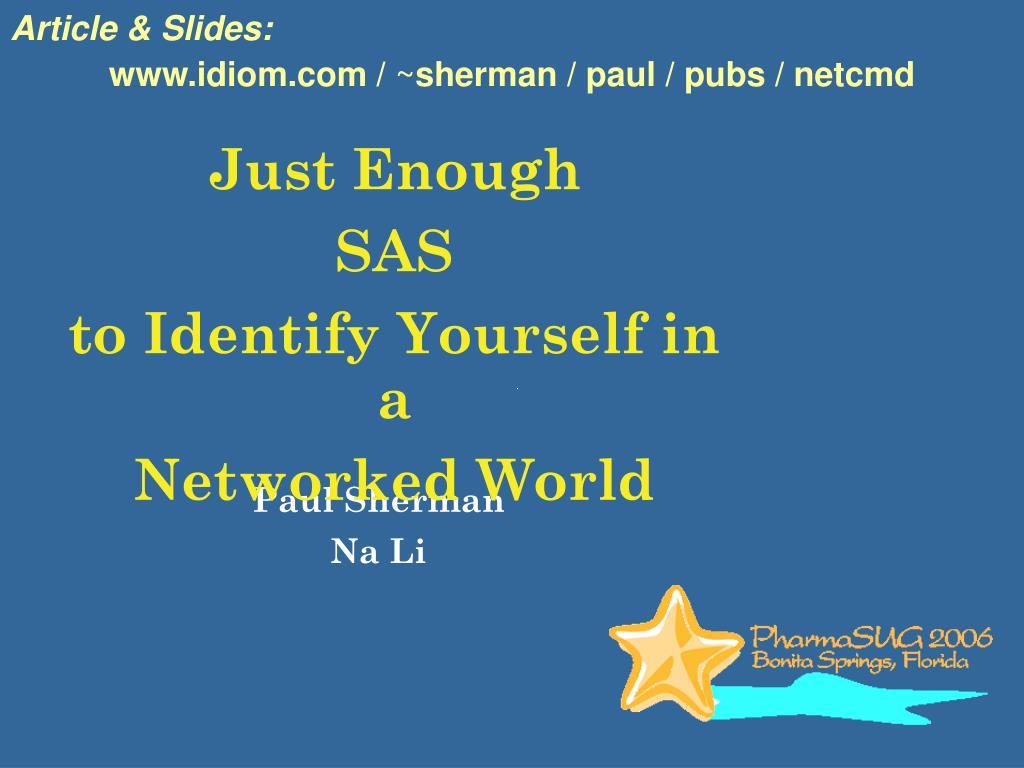 Article & Slides:
