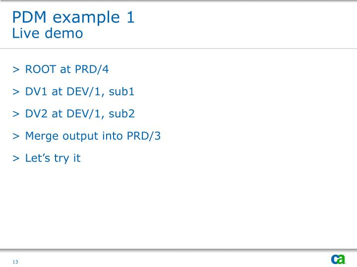 PDM example 1