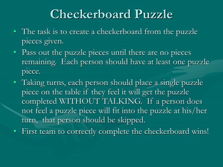 Checkerboard Puzzle