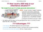how could a dss help in our inheritance situation