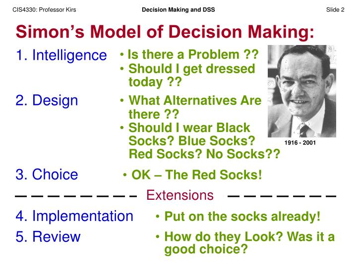 Simon s model of decision making