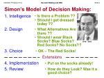 simon s model of decision making