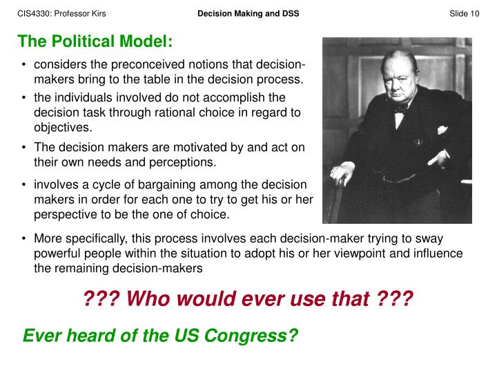 The Political Model: