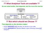 what analytical tools are available